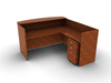 Picture of Offices to Go SL7130RDSNT L Shaped Reception Desk w/ Mobile Pedestal