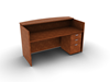 Picture of Offices to Go SL7130RDSNT-SL22BBFM Reception Desk w/ Mobile Ped