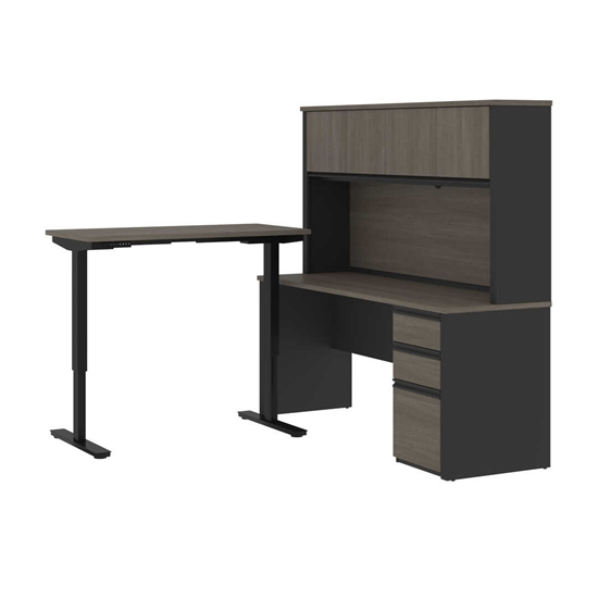 Picture of Bestar 99886 Sit Stand Desk