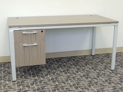 """Picture of Simple System 60""""W Desk"""