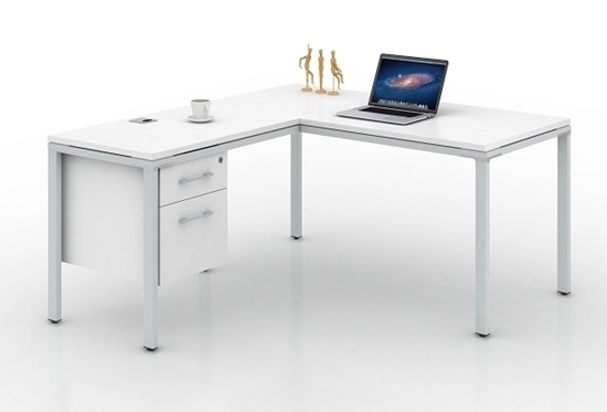 """Picture of Simple System 60""""W L-Shaped Credenza Desk"""